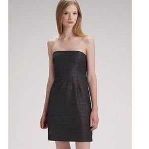 Theory Wool Blend Strapless Conie Dress